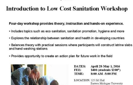 Low-Cost Sanitation Workshop (4/28-5/1/16)
