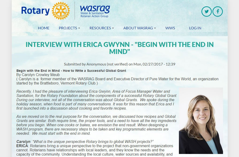 Erica Gwynn WASRAG Interview
